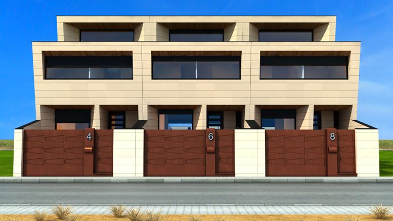 6 Casas Adosadas Con Fachada Minimalista - Fachadas De Casas ...